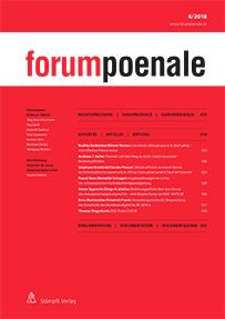 forumpoenale<br>Numéro 1 / 2018
